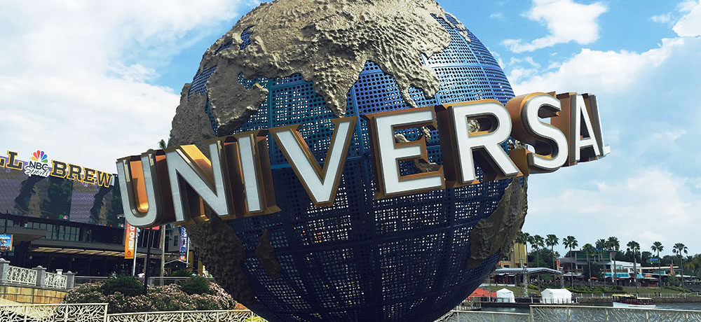 Universal Studios ball in Orlando, Florida
