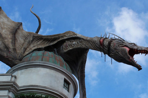 Gringotts ride at Universal Studios Orlando Florida