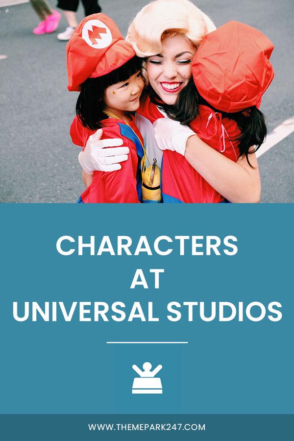 Characters at Universal Studios