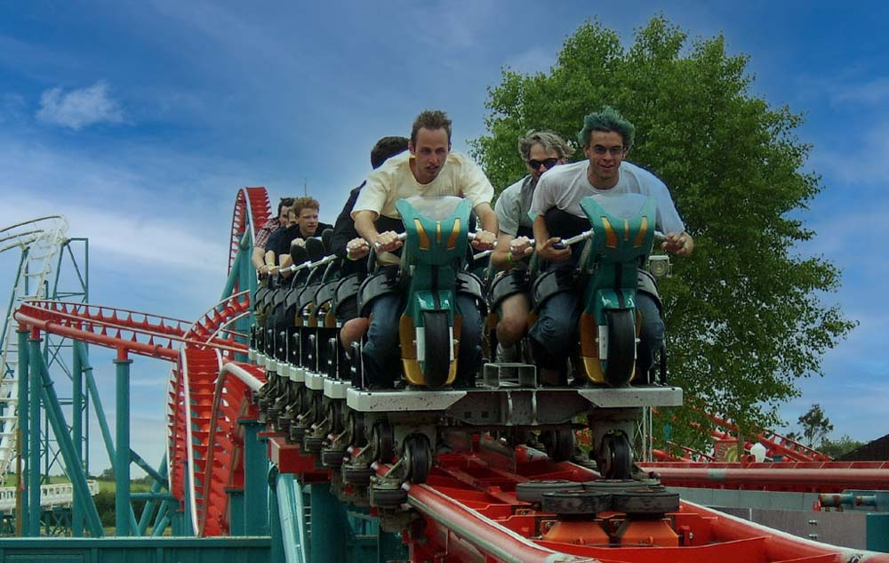 Velocity train Flamingo Lands Best theme parks in England